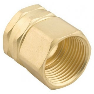 """Gilmour 7FPS7FH Brass Double Female Swivel Connector, 3/4"""" NPT x 3/4"""" NH"""