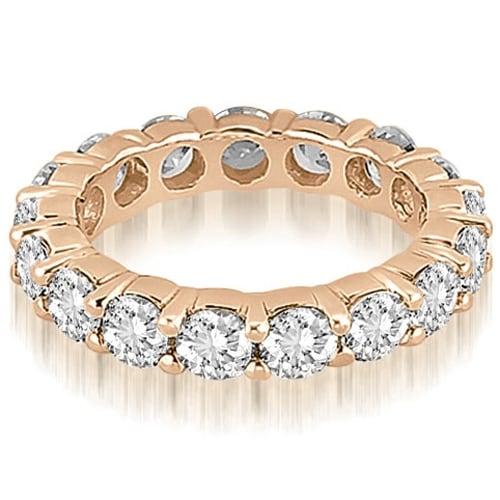 3.40 cttw. 14K Rose Gold Round Diamond Eternity Ring,HI,SI1-2