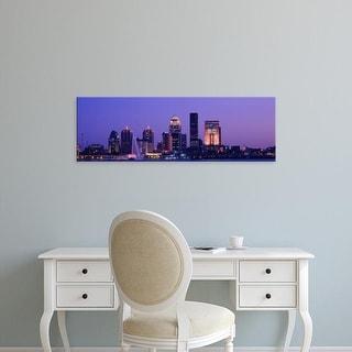 Easy Art Prints Panoramic Images's 'Night Skyline Louisville KY' Premium Canvas Art