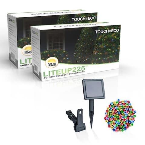 Solar Powered 225 LED String Light - 2 Pack, Multiple Color Options - 2 Pack