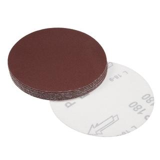 5-Inch Sanding Disc 180 Grits Aluminum Oxide Flocking Back Sandpapers 10 Pcs - 180 Grits
