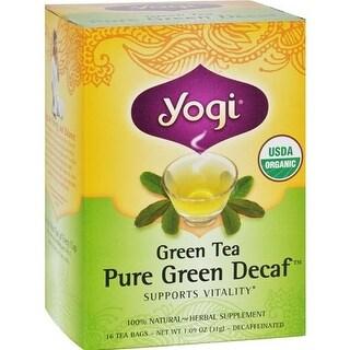Yogi - Organic Green Tea - Caffeine Free ( 6 - 16 BAG)