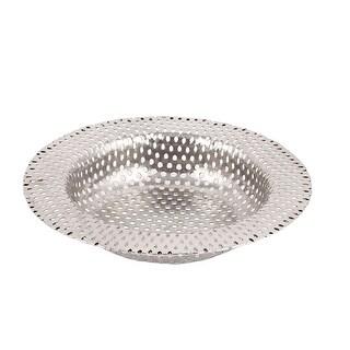 Kitchen Stainless Steel Mesh Sink Basin Hair Waste Filter Strainer 11cm Dia