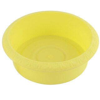 Home Office Garden Plastic Bowl Shaped Aloes Cactus Plant Flower Pot Yellow