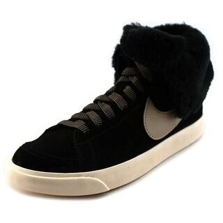 Nike Wmns Blazer High Roll Women Round Toe Suede Black Sneakers