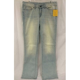 Link to Yummie Tummie Slimming Mid Rise Straight Leg Denim, Sun Bleached, 26 Similar Items in Pants