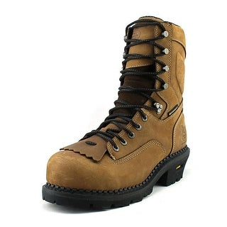 Georgia Boot Comfort Core Logger EH Men  Steel Toe Leather Brown Work Boot