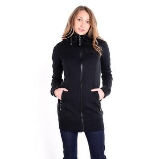 Long Zip Knit Jacket - Black