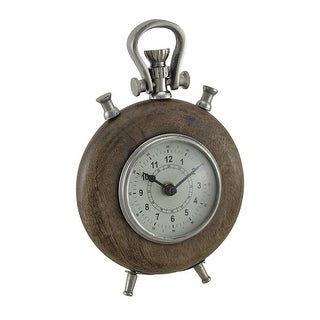 Wooden Pocket Watch Style Decorative Table Clock