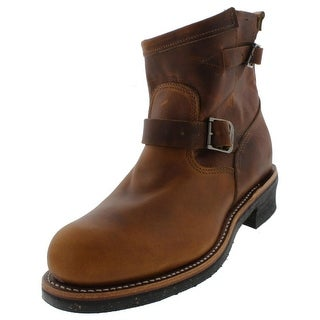 Chippewa Mens Work Boots Leather Steel Toe