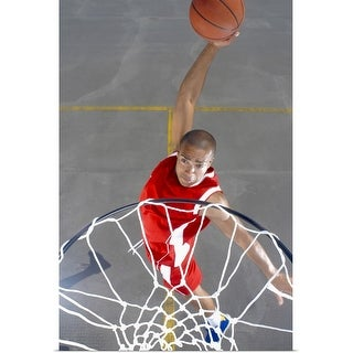 """Basketball player about to dunk"" Poster Print"