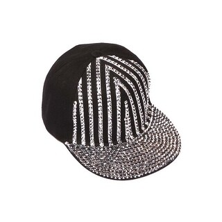 Womens Sequined Striped Baseball Cap