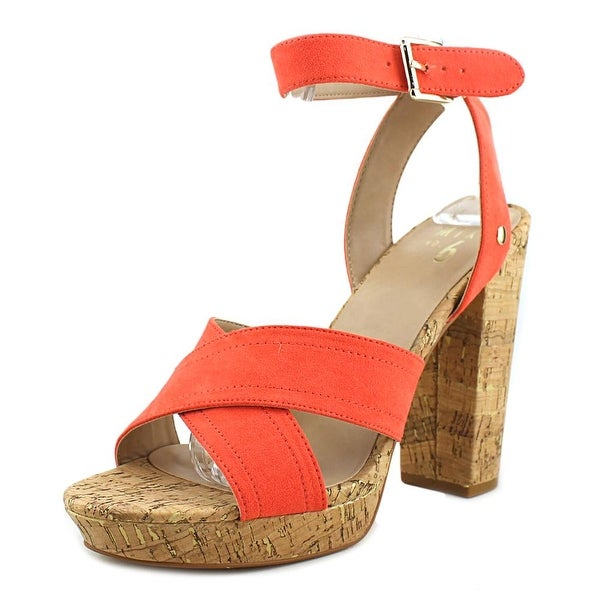 Mix No 6 Latika Women Open Toe Synthetic Orange Platform Heel