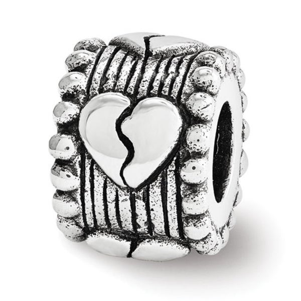 Sterling Silver Reflections Broken Heart Spacer Bead (4mm Diameter Hole)
