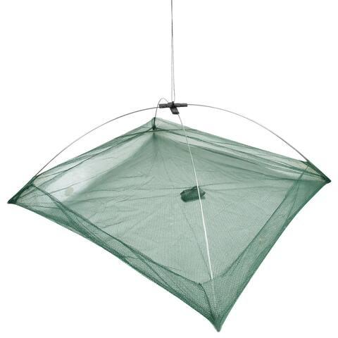 "Unique Bargains 19.7"" x 19.7"" x 14.6"" Umbrella Crab Bait Cast Lures Dip Fishing Net for Fishermen Green"