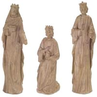 "Pack of 3 Decorative Country Rustic Holiday Wisemen Nativity Figures 12""-16.75""H"