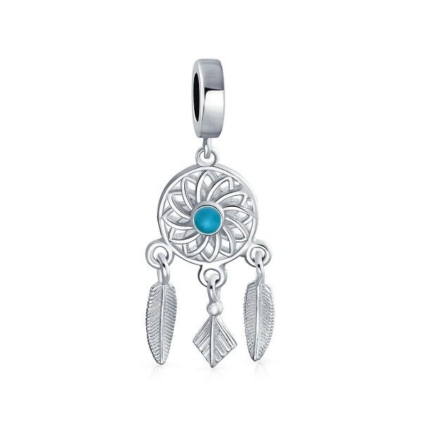 33ec5e058 Shop Dream Catcher Of Hopes Dreams Blue Center Dangle Charm Bead For Women  For Teen Sterling Silver Fits European Bracelet - On Sale - Free Shipping On  ...