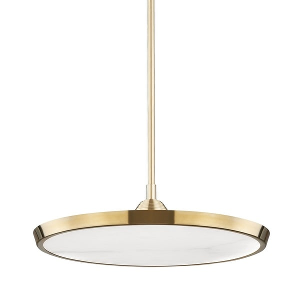 Hudson Valley Draper Large LED Pendant with Alabaster Shade. Opens flyout.
