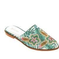 Kenneth Cole Reaction Women's Speed Floral Flat Mule Multi Printed Fabric