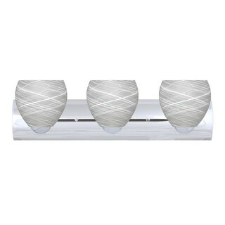 Besa Lighting 3WZ-412260-LED Bolla 3 Light Reversible LED Bathroom Vanity Light with Cocoon Glass Shades