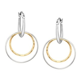 Just Gold Interchangable Hoop Earrings in 14K Two-Tone Gold