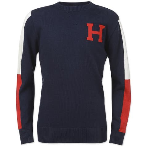 Tommy Hilfiger Boys Signature Pullover Sweater, Blue, XL (20) - XL (20)