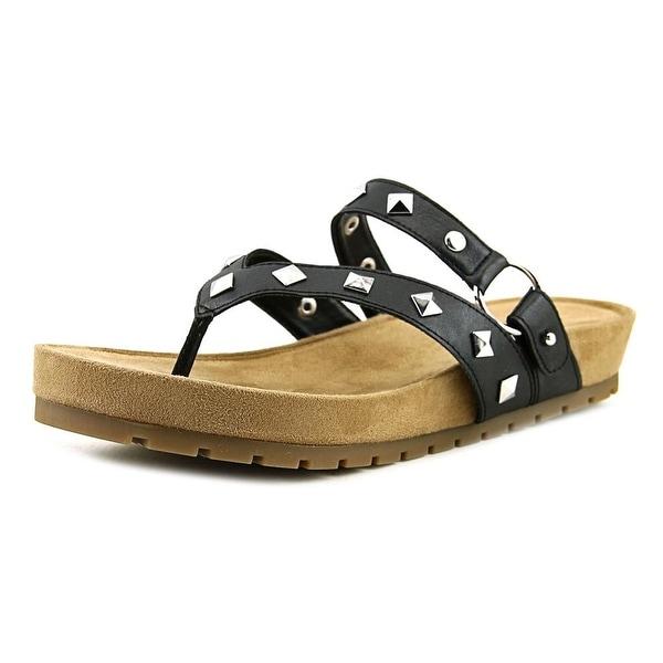 Aerosoles Homecoming Women Open Toe Synthetic Black Thong Sandal