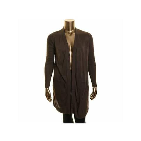 INC Womens Brown Long Sleeve Open Cardigan Sweater Size XS