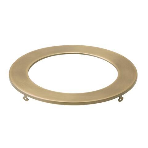 Kichler Direct-to-Ceiling Slim Decorative Trim 6 inch Round Natural Brass