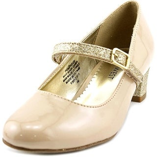 Nine West Pumped Up Youth Round Toe Synthetic Tan Mary Janes