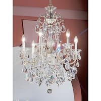 "Classic Lighting 57006-SS 33"" Crystal Chandelier from the Via Venteo Collection"