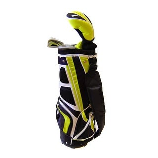 New Tommy Armour Juniors' Hot Scot 5pc Complete Golf Set + Carry Bag RH - black / white / lime green