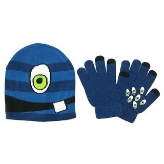 CTM® Kids' 4-7 Face Hat with Gripper Gloves Set - One Size