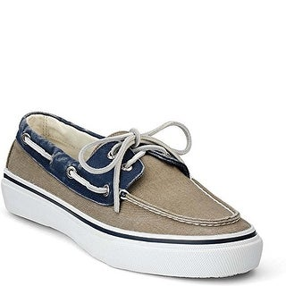 Sperry Mens Bahama 2 Eye Leather Closed Toe Boat Shoes