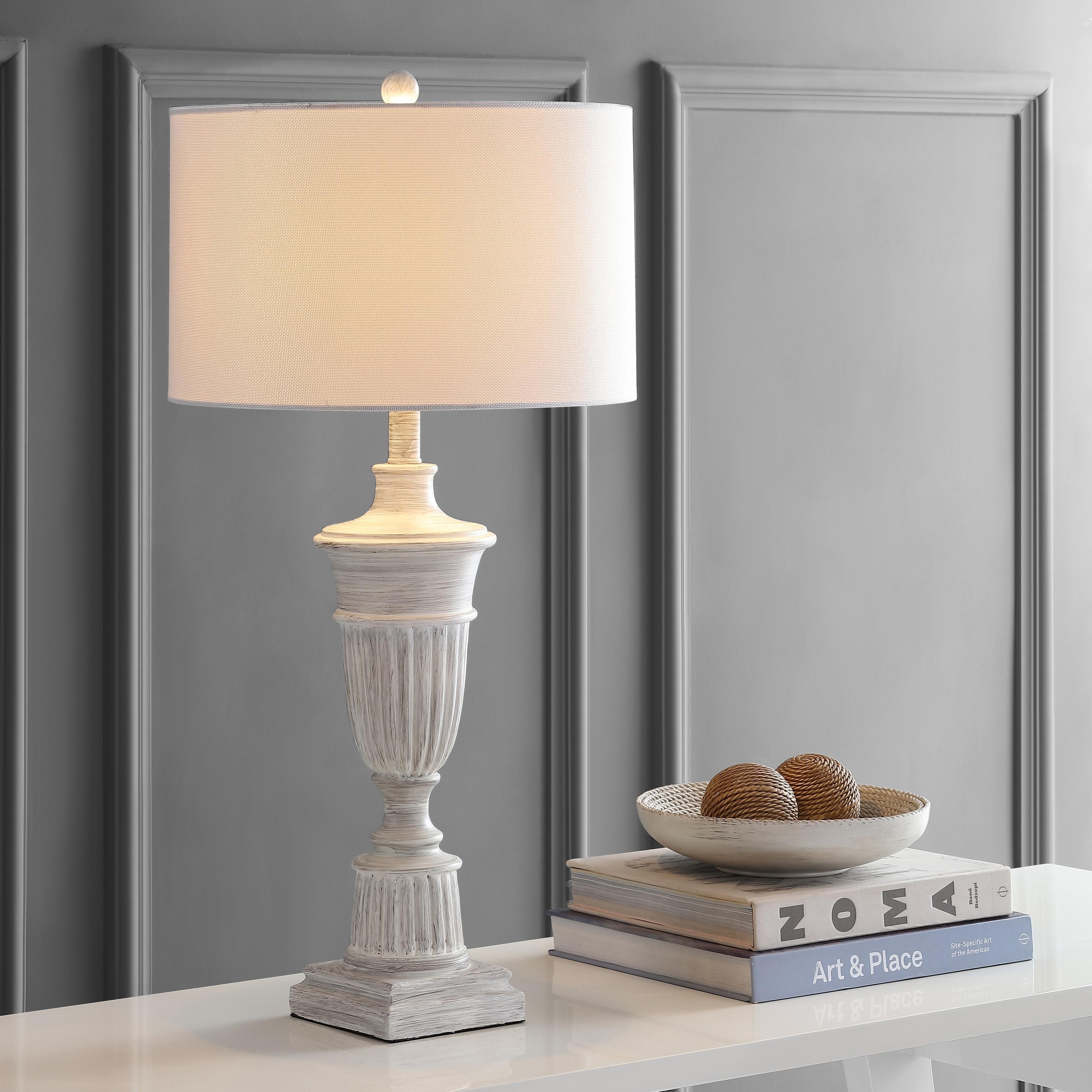 Safavieh Lighting 31 Inch Kylen White Led Table Lamp Set Of 2 15 X15 X31 Overstock 27123755