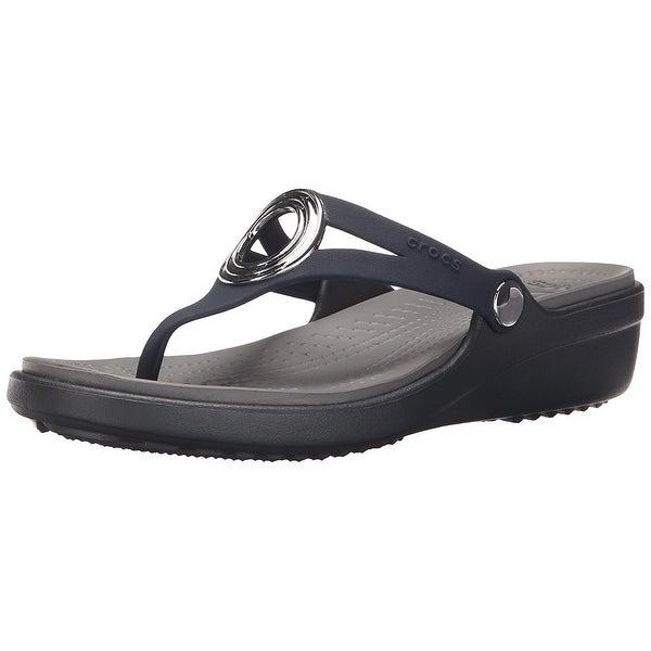 d13e1870d3f8 Shop Crocs Womens Sanrah Beveled Circle Open Toe Casual Slide ...
