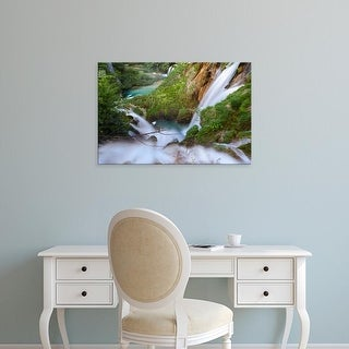 Easy Art Prints Martin Zwick's 'The Waterfalls Plunging To The River Bed Of River Korana' Premium Canvas Art
