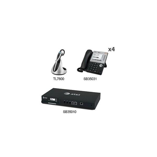 AT&T SB35010 + (4) SB35031 + (1) TL7800 yn 248 SB35010 Desksets Plus Cordless