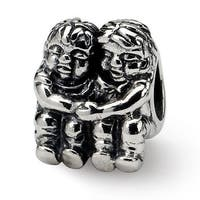 Sterling Silver Reflections Two Kids Bead (4mm Diameter Hole)