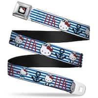 Hello Kitty W Red Bow Full Color Black Hello Kitty Summer Sailor W Stripes Seatbelt Belt