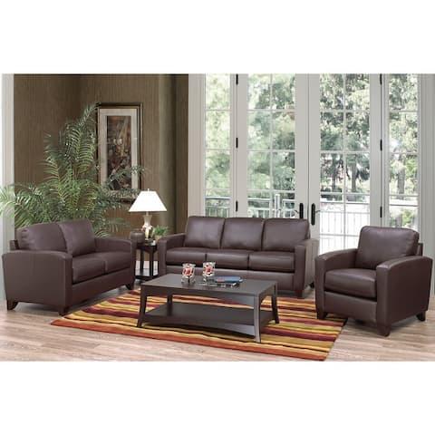 Bryce Italian Top Grain Leather Sofa, Loveseat and Chair