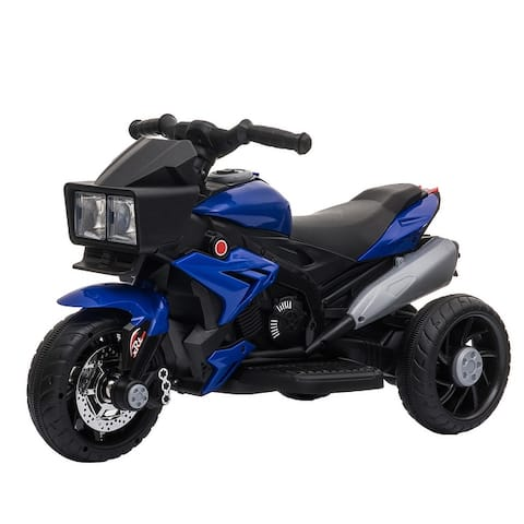 Aosom Kids Electric 6V Ride-On Motorcycle with Working Horn and Headlights for Boys and Girls 3-8 Years Old