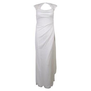 Xscape Women's Lace Cowl Neck Dress
