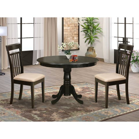 3-piece Dining Set - Kitchen Nook Table and 2 Dinette Chairs in Cappuccino Finish (Pieces Option)