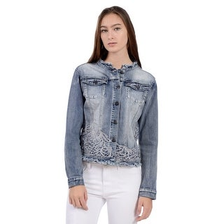 Lola Jeans Bluebell-DTB, Denim jacket with embroidery