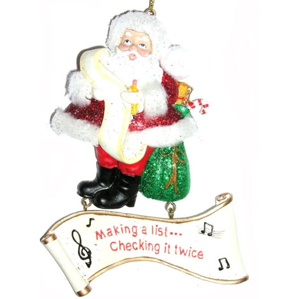 Making a List... Checking It Twice Santa Claus Christmas Ornament