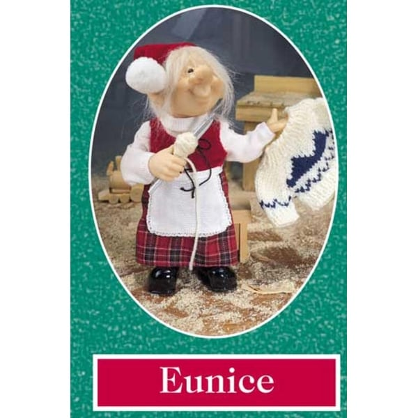 """10"""" Zims The Elves Themselves Eunice Collectible Christmas Elf Figure"""