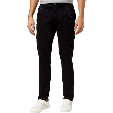 GUESS Mens Basic Casual Cargo Pants, black, 36W x 30L - 36W x 30L