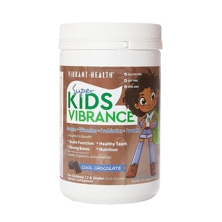 Vibrant Health - Super Kids Vibrance, Greens, Vitamins, Probiotics, and Protein, Cool Chocolate, 14 Servings