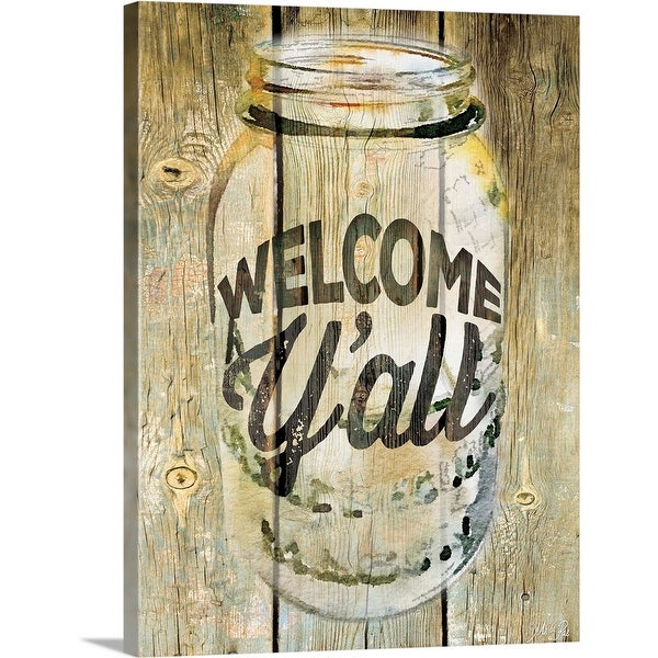 Rae Marla Solid-Faced Canvas Print entitled Welcome Y'all